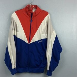 Vintage Adidas Red White Blue Full Zip Jacket XL